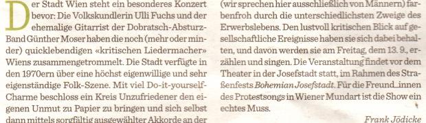 Tafel der kritischen Wiener Liedermacher der 1970er
