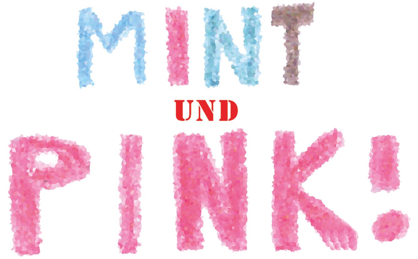 mint und pink